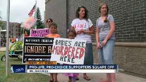 Pro-life and pro-choice activists face off in Milwaukee [Video]