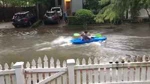 Street Flooding Calls for Kayaking [Video]