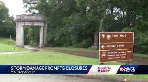 Barry topples trees in military park [Video]