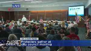 Protestors Urge Council To Reinstate Pledge [Video]