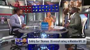 Does Baltimore Ravens free safety Earl Thomas deserve to be top-rated safety in 'Madden NFL 20'? [Video]