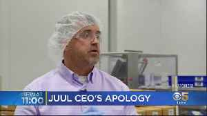 'It's Not Intended For Them'; Juul CEO Apologizes To Parents During Plant Tour [Video]