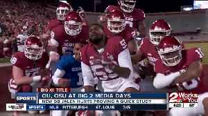 Big 12 Media Days: Oklahoma chasing 5th straight Big 12 title, Jalen Hurts picks up offense quickly; Mike Gundy takes responsibi [Video]