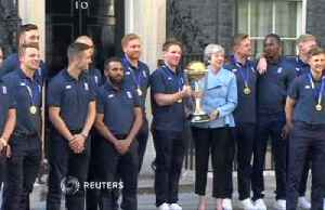 Prime Minister May hosts England's World Cup winners [Video]