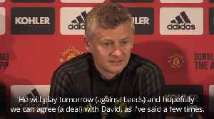 Ole Gunnar Solskjaer hopeful of De Gea deal [Video]