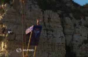 Cliff divers leap from Beirut landmark in international tour [Video]