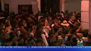 News video: Protesters Clash With Police In Puerto Rico
