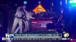 Woman taken into custody after leading high-speed chase in North County [Video]