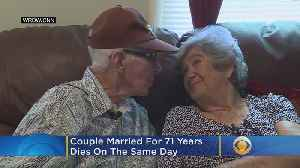 'Amazing Love Story': Couple Married For 71 Years Die On The Same Day [Video]
