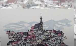 Man draws every city in Europe that he visits along the way [Video]
