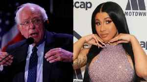Cardi B Expresses Support for Bernie Sanders [Video]