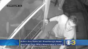 Surveillance Video Captures Man Breaking Into Roxborough Home, Sleeping Over While Homeowner Is At Jersey Shore [Video]