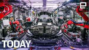 Tesla workers say they used electrical tape in Model 3 production | Engadget Today [Video]