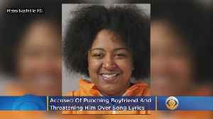 Police: Girlfriend Punches, Threatens Boyfriend With Box Cutter Over Song Lyrics [Video]