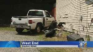 Pickup Truck Slams Into West End House [Video]