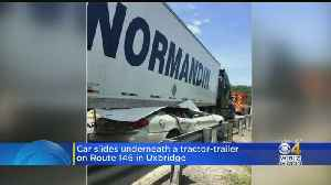 Police 'Amazed' Driver Only Has Minor Injuries After Sliding Under Tractor-Trailer [Video]