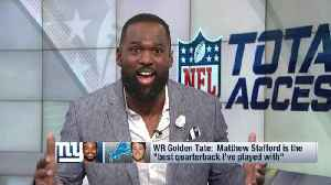 Free agent defensive lineman Andre Fluellen supports New York Giants wide receiver Golden Tate's take on Detroit Lions quarterba [Video]