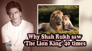 Why Shah Rukh saw 'The Lion King' 40 times [Video]
