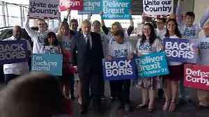Boris Johnson arrives at final hustings event [Video]