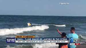 Small plane makes emergency landing just off the beach in Ocean City [Video]