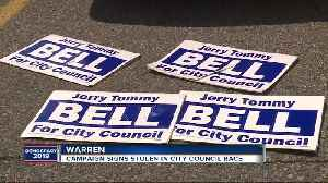 Warren City Council candidates say their campaign signs are being stolen from busy intersections [Video]
