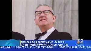 News video: Retired Supreme Court Justice John Paul Stevens Has Died
