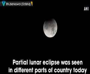 Country witnesses partial lunar eclipse [Video]