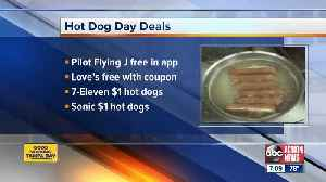 Where to get freebies, deals for National Hot Dog Day [Video]