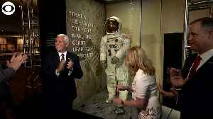 WEB EXTRA Neil Armstrong spacesuit on display [Video]