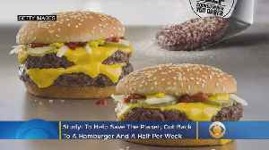 To Help Save The Planet, Cut Back To A Hamburger And A Half Per Week [Video]