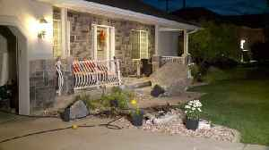 Boulder Smashes into Home Near Utah Wildfire [Video]