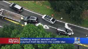 Man Suspected In Belmont Stabbing Crashes Following Police Pursuit Into Cambridge [Video]