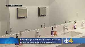 News video: New Hampshire Now Requires Schools To Stock Free Menstrual Products In Bathrooms