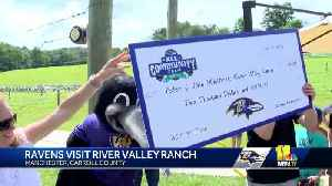Ravens donate $2,000 to River Valley Ranch summer camp [Video]
