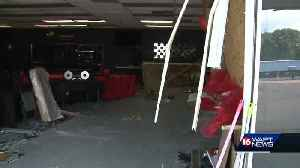Pickup truck crashes into sports bar [Video]
