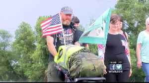 Veteran walks across America to bring awareness to veteran suicide [Video]