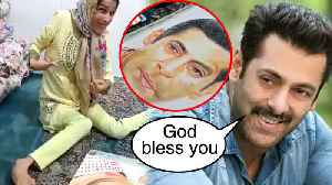 Salman Khan's DISABLED Girl Fan Draws His Portrait With Her LEGS | MUST WATCH [Video]
