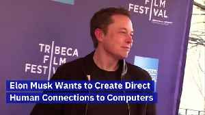 Elon Musk Wants to Create Direct Human Connections to Computers [Video]