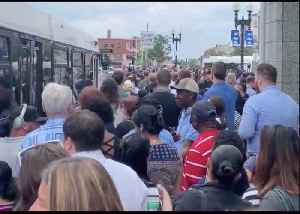 Passengers Crowd Shuttle Bus Service After Power Issue Shuts Down Boston's Blue Line [Video]