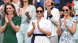 News video: Meghan Markle and Kate Middleton have fashion face-off at Wimbledon 2019