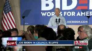 Joe Biden in Iowa looks to connect to the working, middle class [Video]