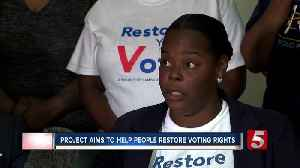 Community groups look to help former felons regain voting rights [Video]