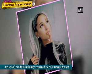 Ariana Grande finally gets her Grammy 5 months after big win [Video]