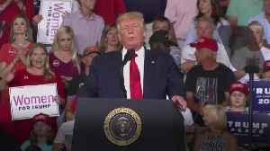 Trump hits out at congresswomen at rally as crowd roars 'send her back' [Video]