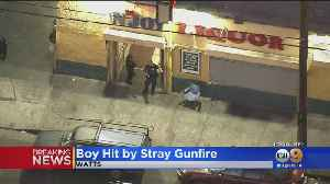 7-Year-Old Child Injured In Watts Shooting [Video]