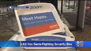 LAX Unveils New Germ-Fighting Bins At TSA Security Checkpoints [Video]