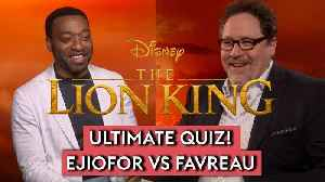 News video: The Lion King 2019: Jon Favreau and Chiwetel Ejiofor test their knowledge of the Disney classic!