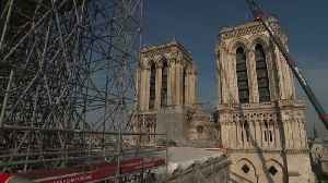Restoration work continues on Notre Dame cathedral after fire [Video]