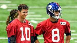 Kim Jones breaks down the relationship between New York Giants quarterbacks Eli Manning and Daniel Jones [Video]