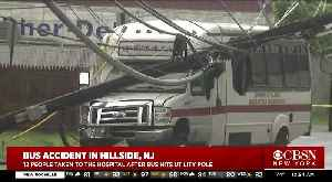 Bus Crash Injures 12 In Hillside, N.J. [Video]